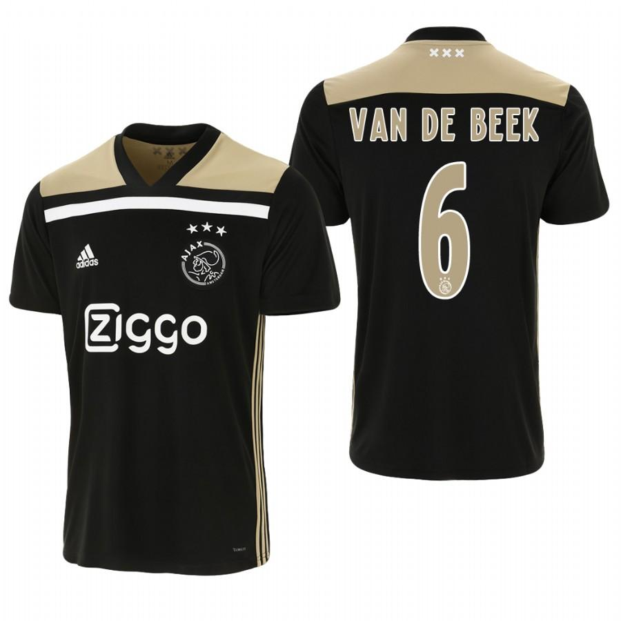 Ajax 18-19 Black Donny van de Beek #6 Away Mens Jersey - S