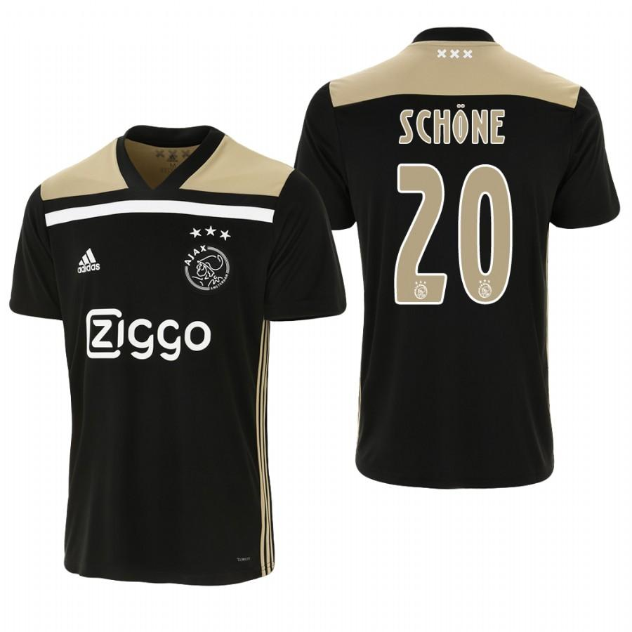 Ajax 18-19 Black Lasse Schone #20 Away Mens Jersey - S