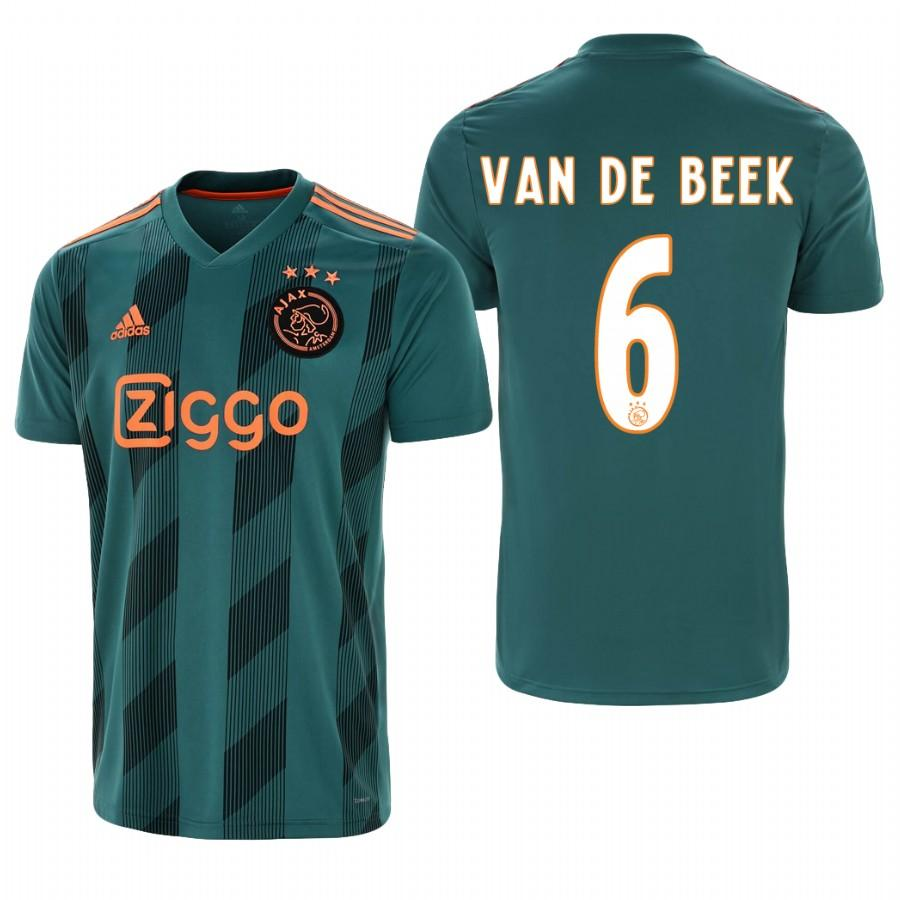 Ajax 19-20 Donny van de Beek #6 Official Green Jersey Mens AWAY - S