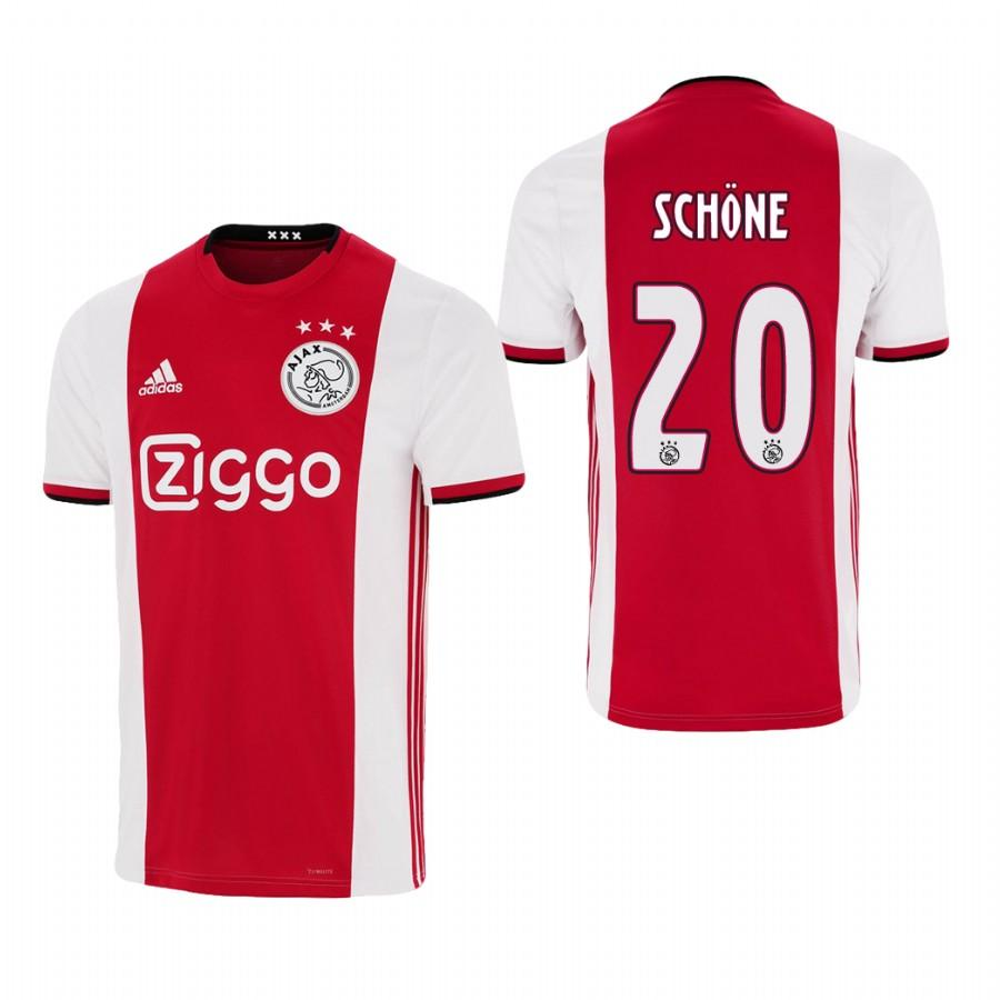 Ajax 19-20 Lasse Schone #20 Official Red White Jersey Mens HOME - S