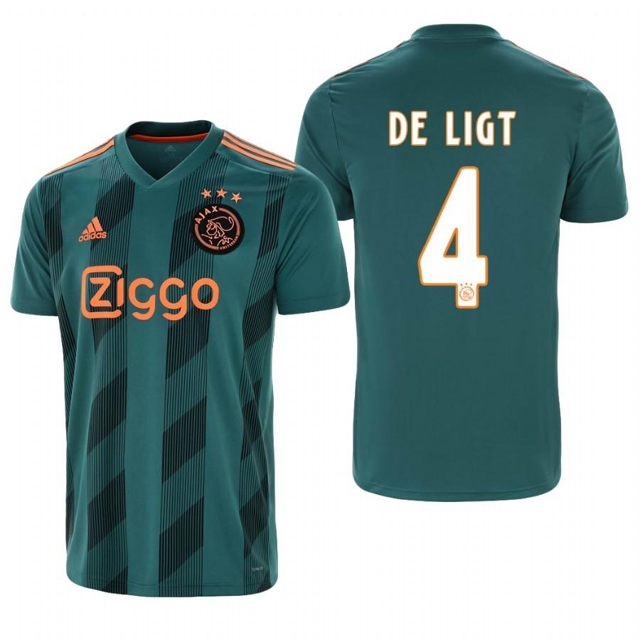 Ajax 19-20 Matthijs de Ligt #4 Official Green Jersey AWAY Mens - S