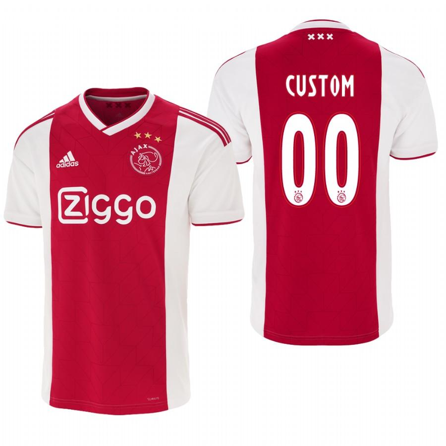 Ajax Custom 18-19 Red White Home Mens Jersey - S