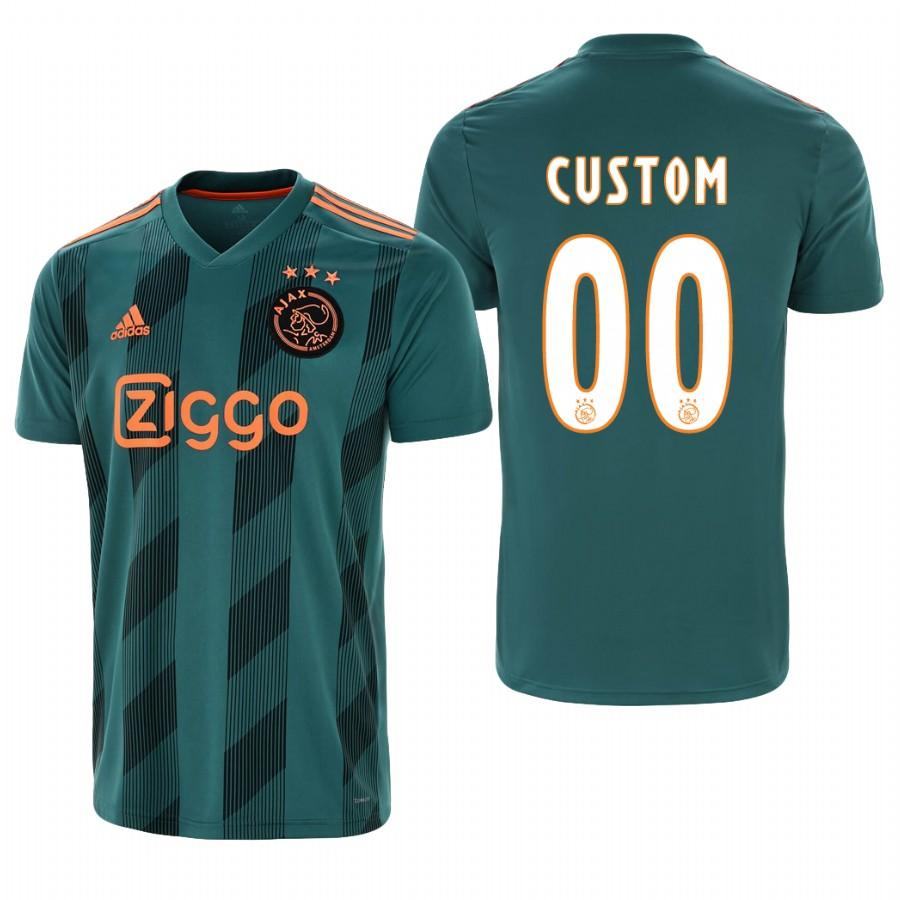 Ajax custom 19-20 Official Green Jersey Mens AWAY - S