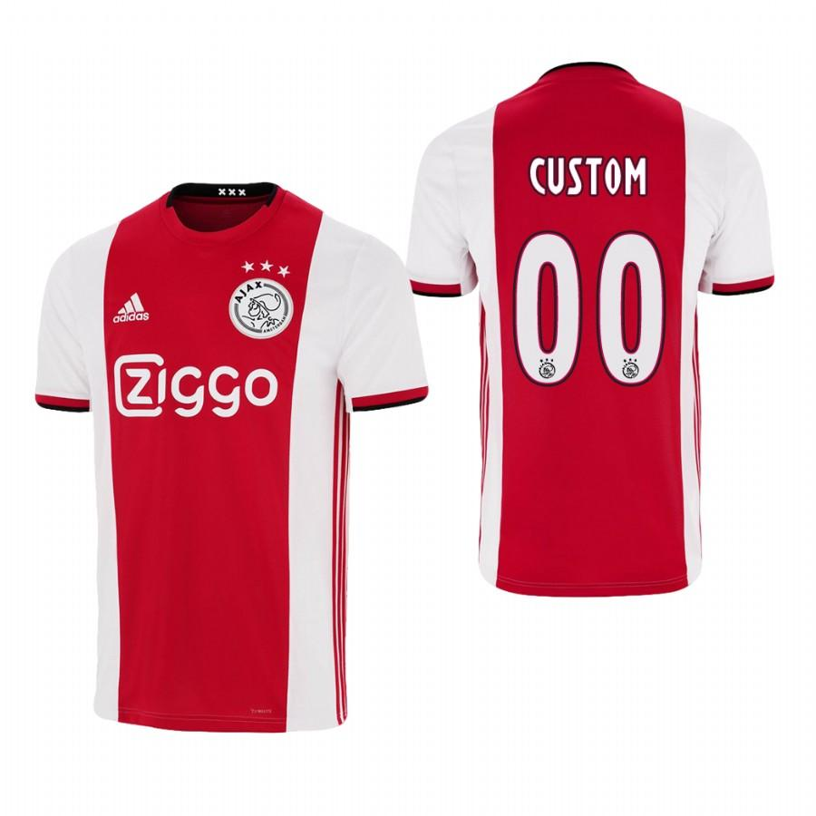 Ajax custom 19-20 Official Red White Jersey Mens HOME - S