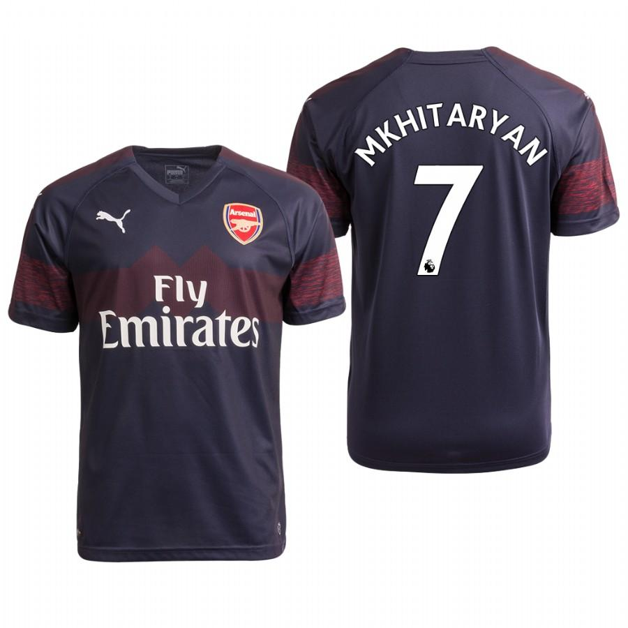 Arsenal 18/19 Navy Henrikh Mkhitaryan #7 Away Mens Jersey - S