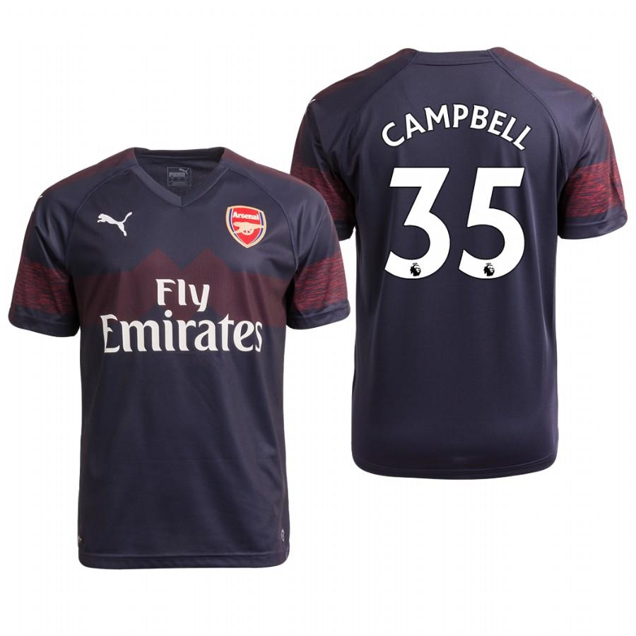 Arsenal 18/19 Navy Joel Campbell #35 Away Youth Jersey - XXS