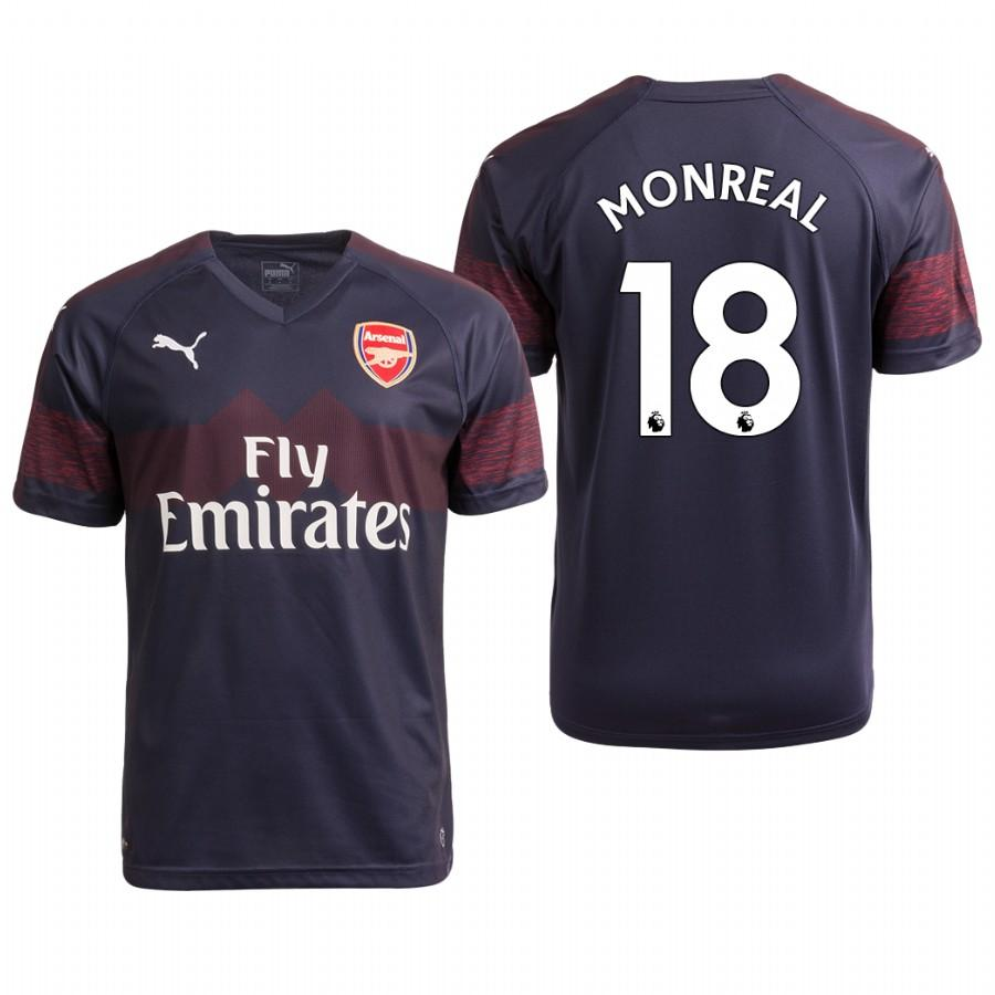 Arsenal 18/19 Navy Nacho Monreal #18 Away Mens Jersey - S