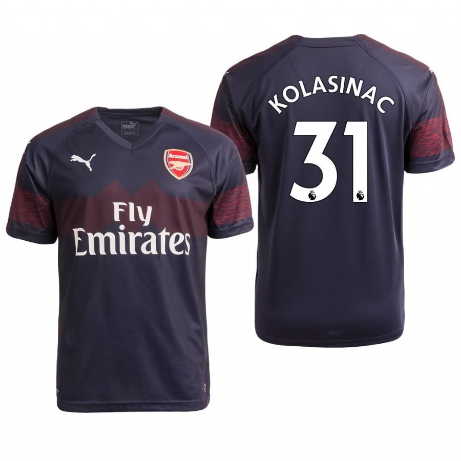Arsenal 18/19 Navy Sead Kolasinac #31 Away Youth Jersey - XXS