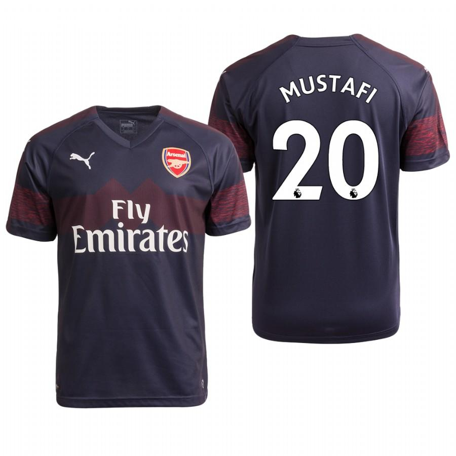 Arsenal 18/19 Navy Shkodran Mustafi #20 Away Mens Jersey - S