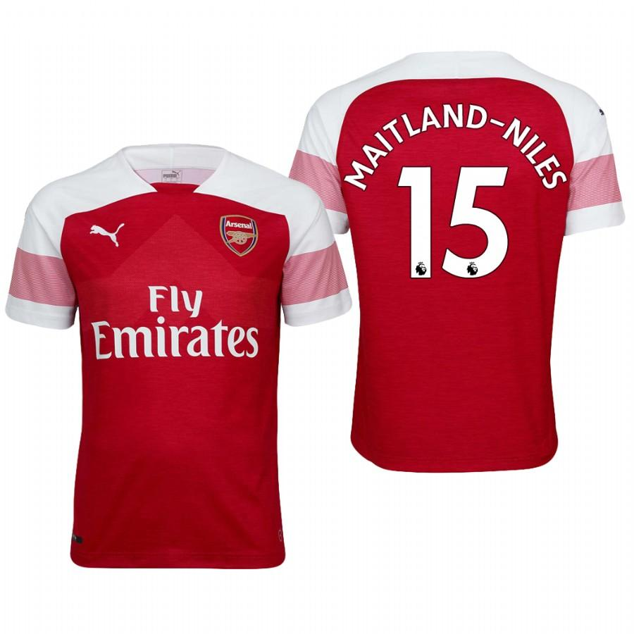 Arsenal 18/19 Red Ainsley Maitland-Niles #15 Home Mens Jersey - S