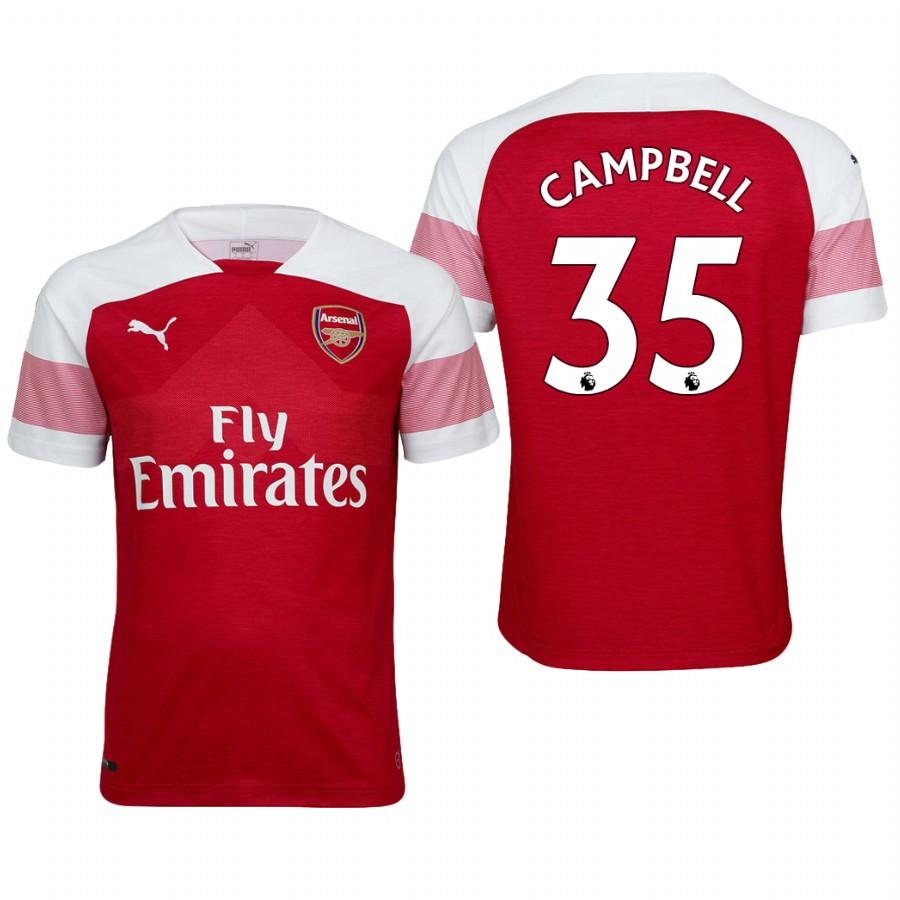 Arsenal 18/19 Red Joel Campbell #35 Home Youth Jersey - XXS