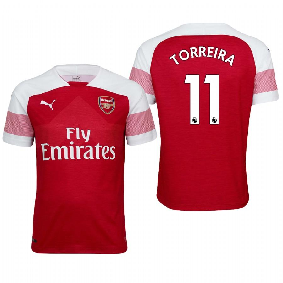 Arsenal 18/19 Red Lucas Torreira #11 Home Mens Jersey - S