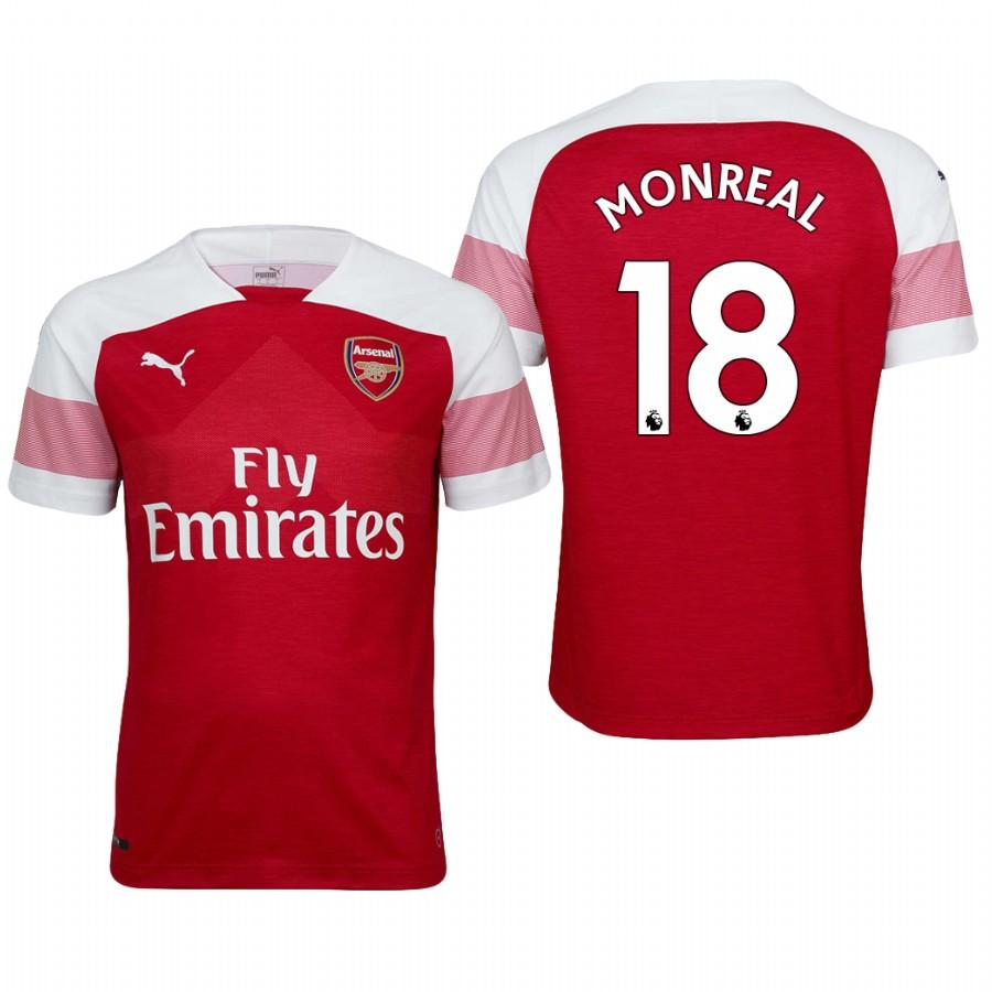 Arsenal 18/19 Red Nacho Monreal #18 Home Mens Jersey - S