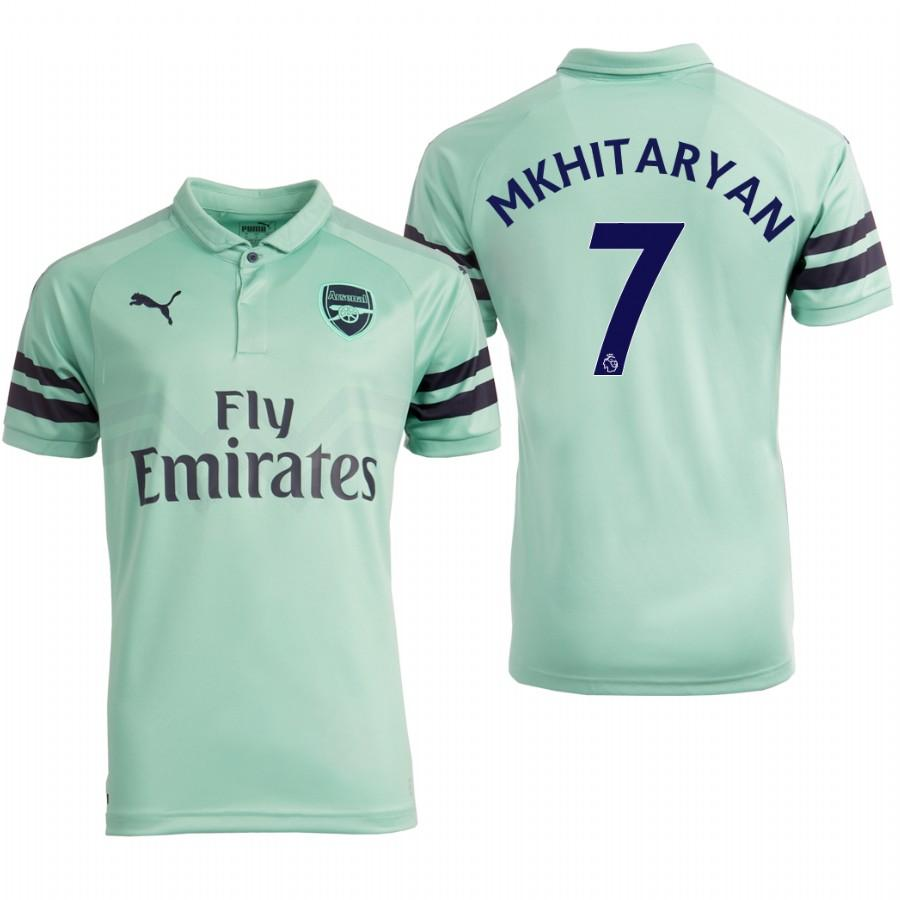 Arsenal 18/19 Turquoise Henrikh Mkhitaryan #7 Third Youth Jersey - XXS