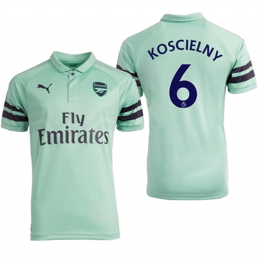 Arsenal 18/19 Turquoise Laurent Koscielny #6 Third Mens Jersey - S
