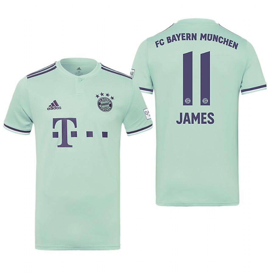 Bayern Munich 18-19 Ash Green James Rodriguez #11 Away Mens Jersey - S