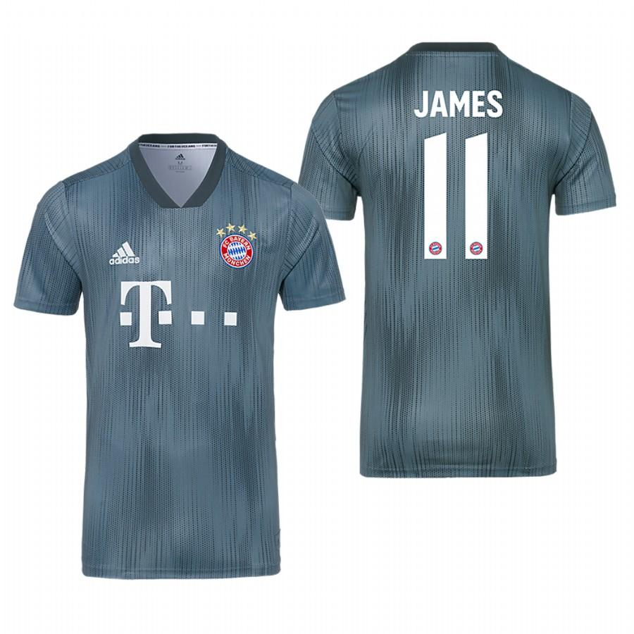 Bayern Munich 18-19 Gray James Rodriguez #11 Champions League Mens Jersey - S