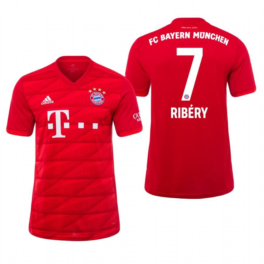 Bayern Munich 19-20 Franck Ribery #7 Official Red Jersey Mens HOME - S