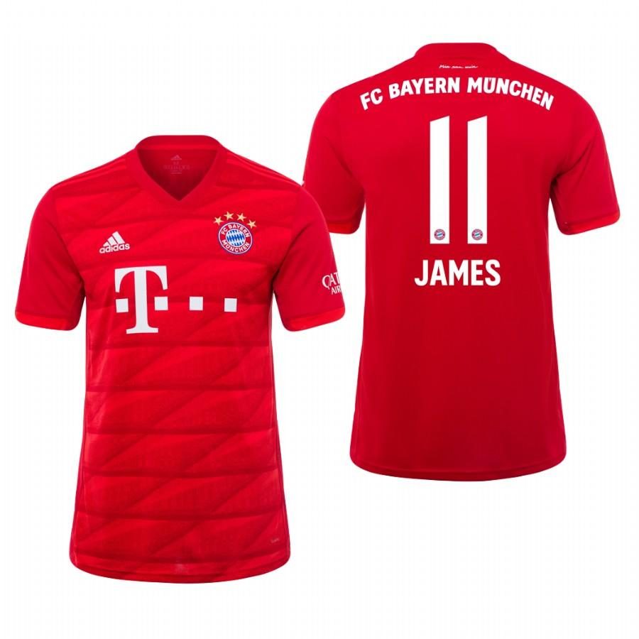 Bayern Munich 19-20 James Rodriguez #11 Official Red Jersey Mens HOME - S
