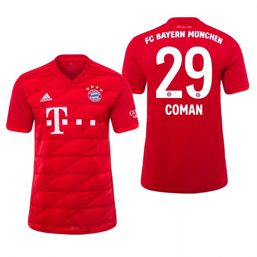 Bayern Munich 19-20 Kingsley Coman #29 Official Red Jersey Mens HOME - S