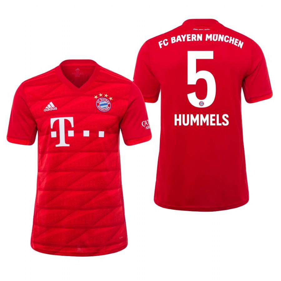 Bayern Munich 19-20 Mats Hummels #5 Official Red Jersey Mens HOME - S