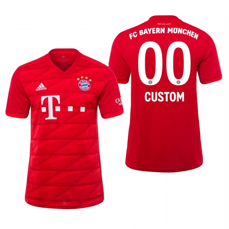 Bayern Munich Custom 19-20 Official Red Jersey Mens HOME - S
