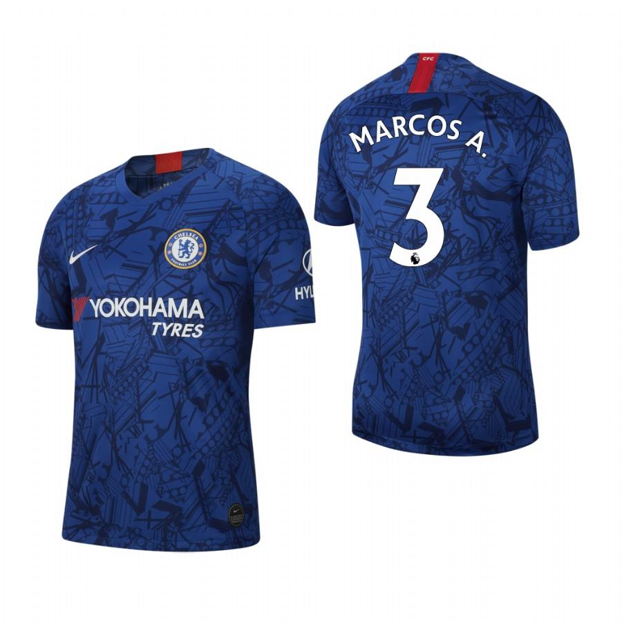 Chelsea 19-20 Marcos Alonso #3 Stadium Blue Jersey Mens HOME - S