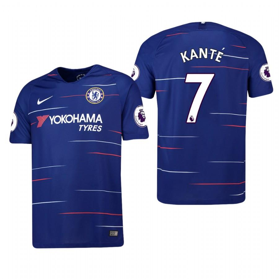 Chelsea 2018-19 Blue NGolo Kante #7 Home Jersey Mens - S