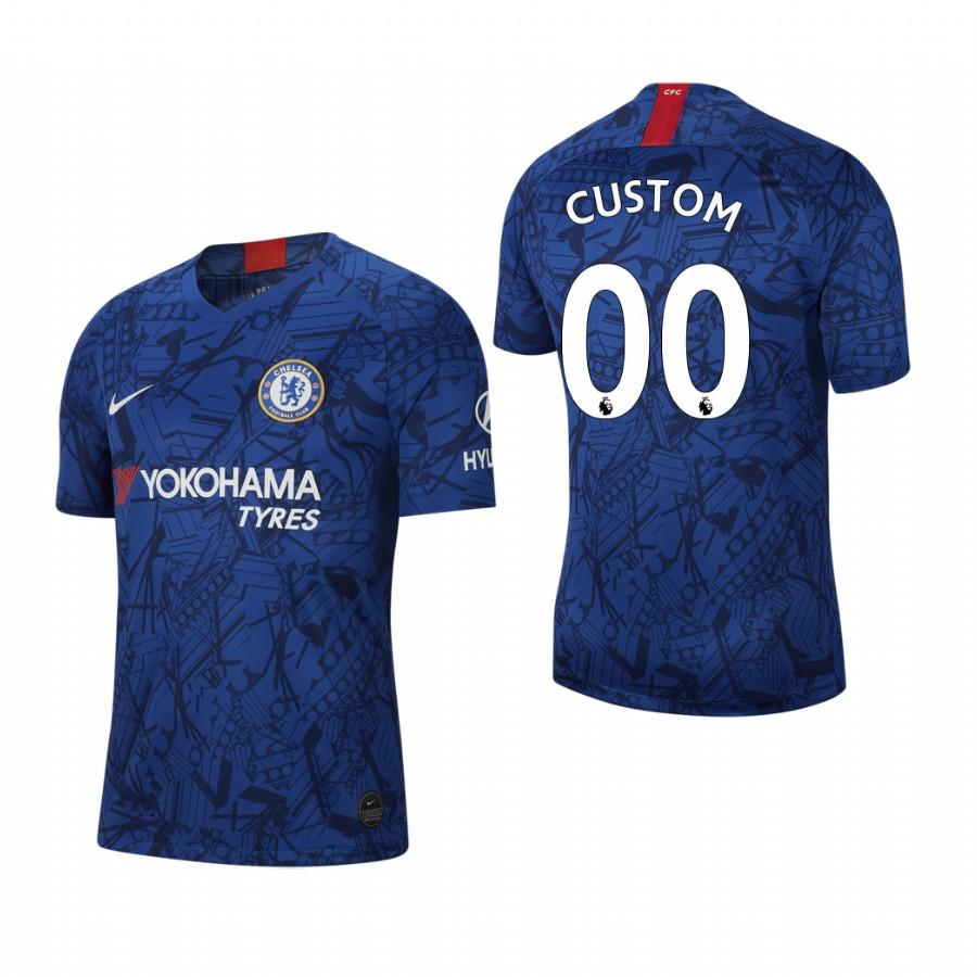 Chelsea Custom 19-20 Stadium Blue Jersey Mens HOME - S