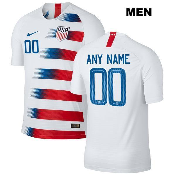 Custom Soccer Jerseys Men Name and Number Home White USWNT 2018-2019 Vapor Match Uniforms Shirts - S