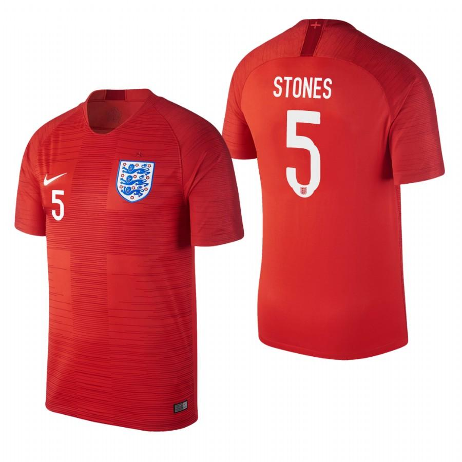 England 2018 World Cup Red John Stones Jersey Mens 2018 WORLD CUP - S