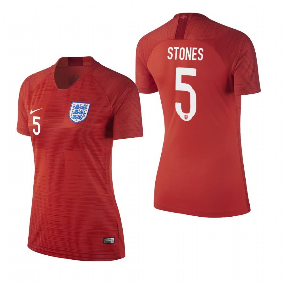 England 2018 World Cup Red John Stones Jersey Womens 2018 WORLD CUP - S