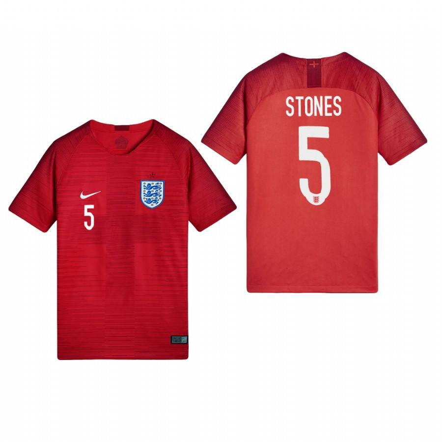 England 2018 World Cup Red John Stones Jersey Youth 2018 WORLD CUP - XXS