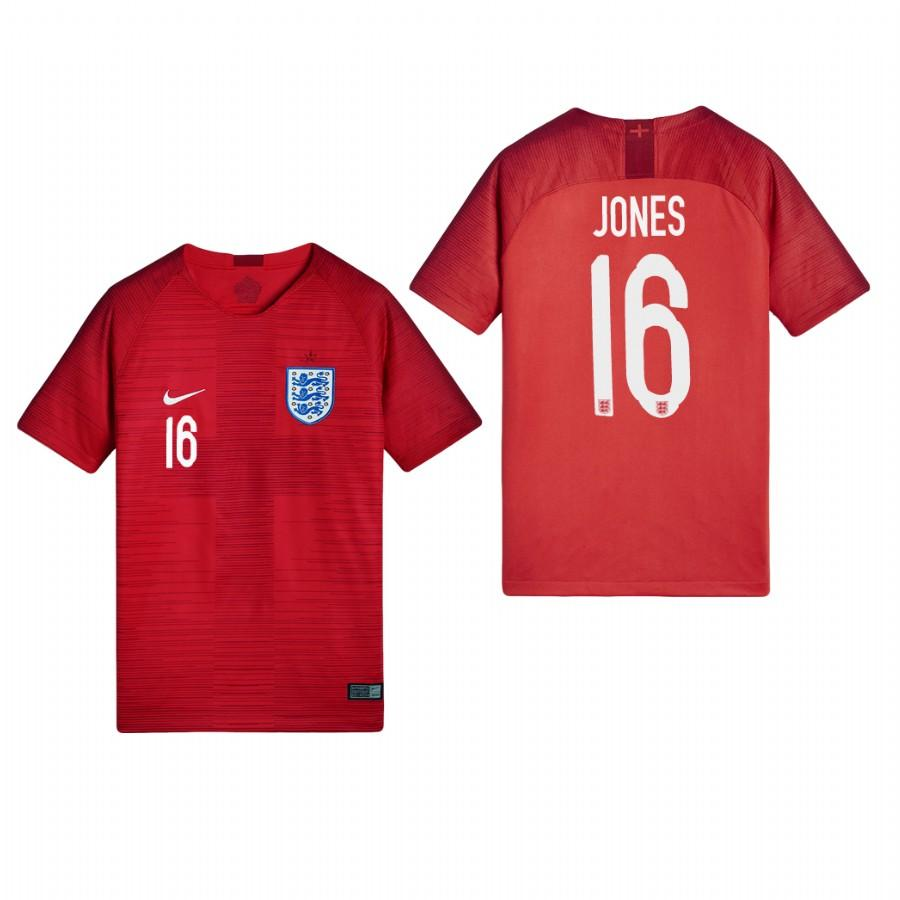 England 2018 World Cup Red Phil Jones Jersey Youth 2018 WORLD CUP - XXS