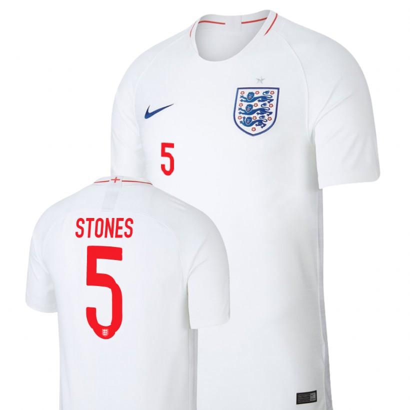 England 2018 World Cup White John Stones Jersey Mens 2018 WORLD CUP - S
