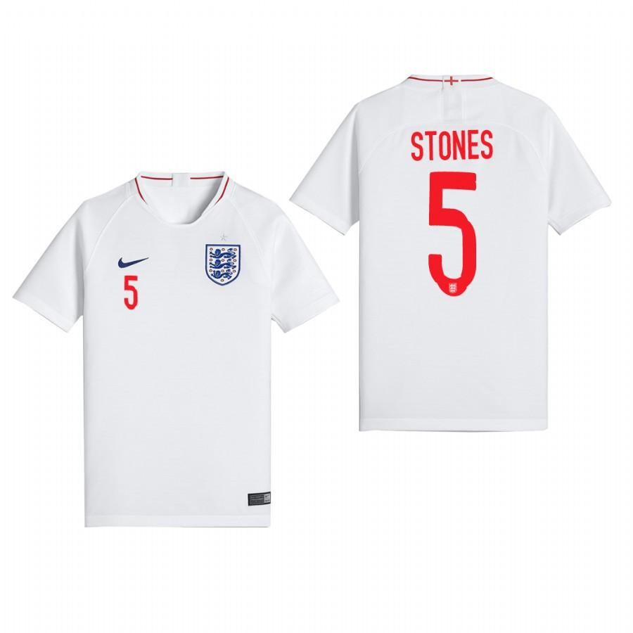 England 2018 World Cup White John Stones Jersey Youth 2018 WORLD CUP - XXS