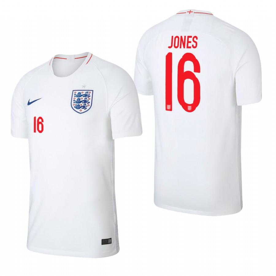 England 2018 World Cup White Phil Jones Jersey Mens 2018 WORLD CUP - S