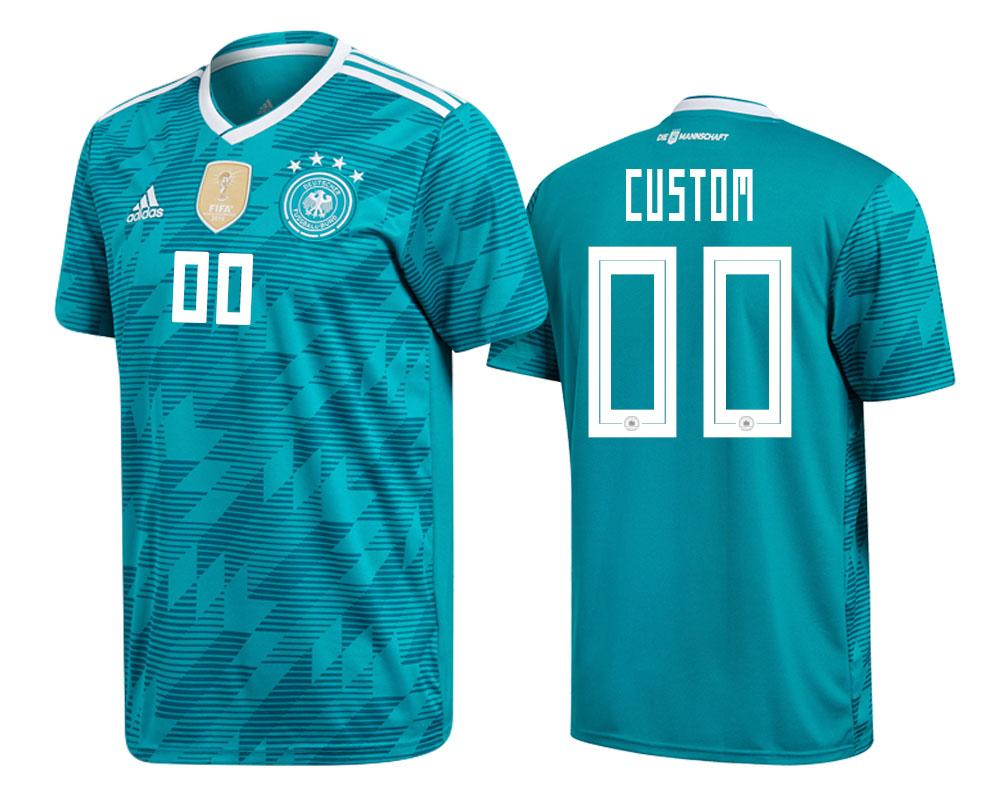 Germany 2018 World Cup Green Custom Jersey Mens 2018 WORLD CUP - S