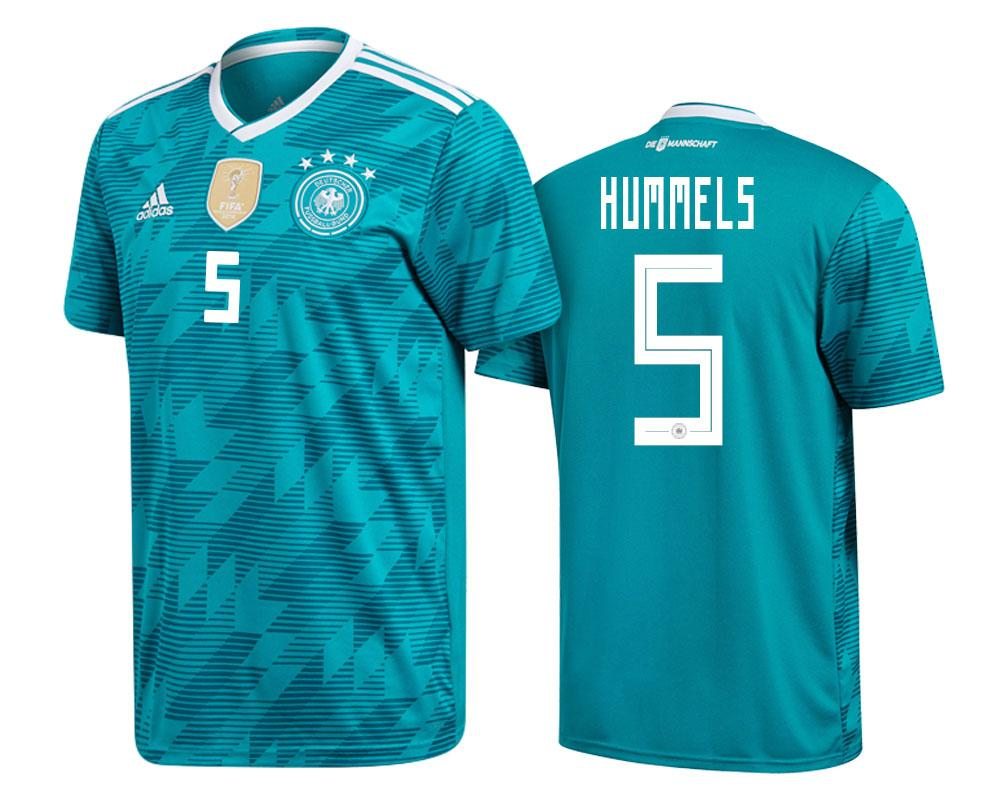 Germany 2018 World Cup Green Mats Hummels Jersey Mens 2018 WORLD CUP - S