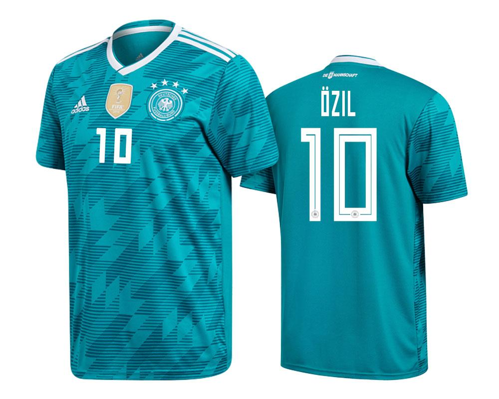 Germany 2018 World Cup Green Mesut Ozil Jersey Mens 2018 WORLD CUP - S