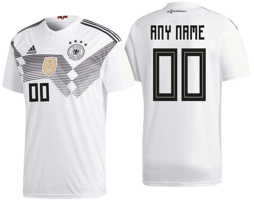Germany Custom 2018 National Team White Jersey Home 2018 WORLD CUP - S