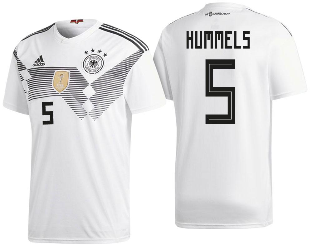 Germany Mats Hummels 2018 National Team White Jersey Home 2018 WORLD CUP - S