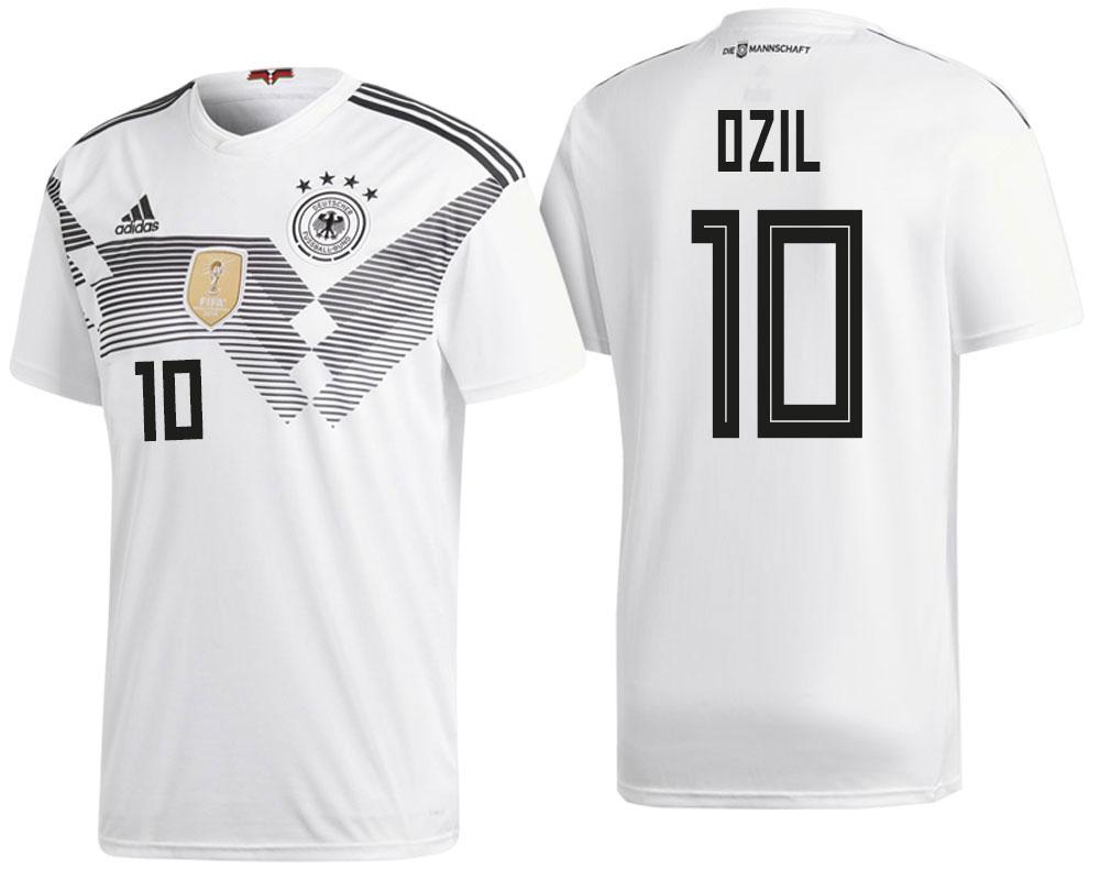 Germany Mesut Ozil 2018 National Team White Jersey Home 2018 WORLD CUP - S
