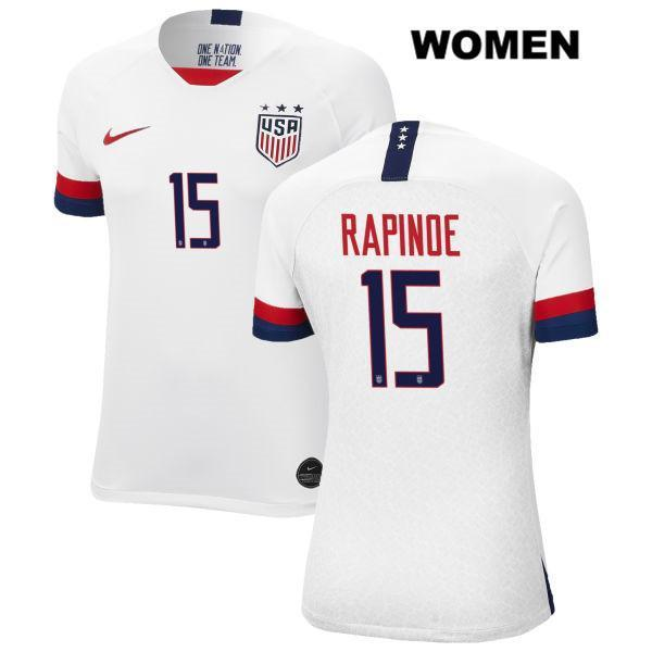 Home Megan Rapinoe Women White no. 15 USWNT 2019 Vapor Match Soccer Jersey - S