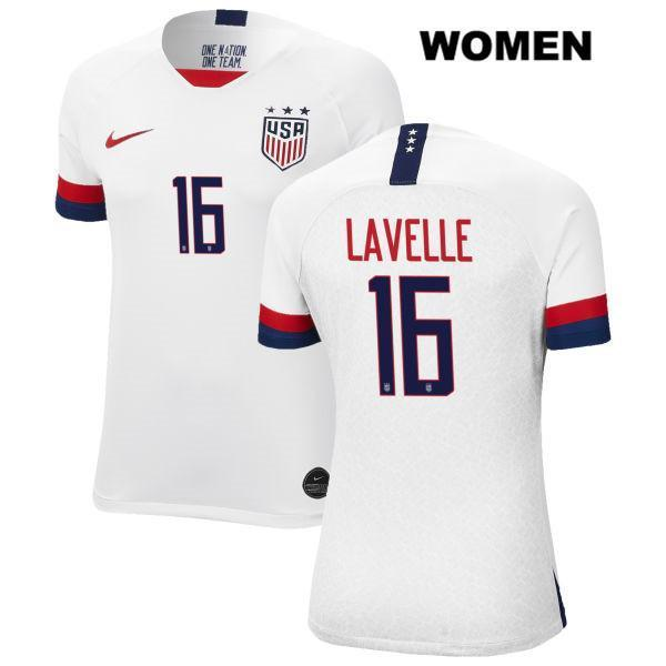 Home Rose Lavelle Women 2019 White no. 16 USWNT Vapor Match Soccer Jersey - S