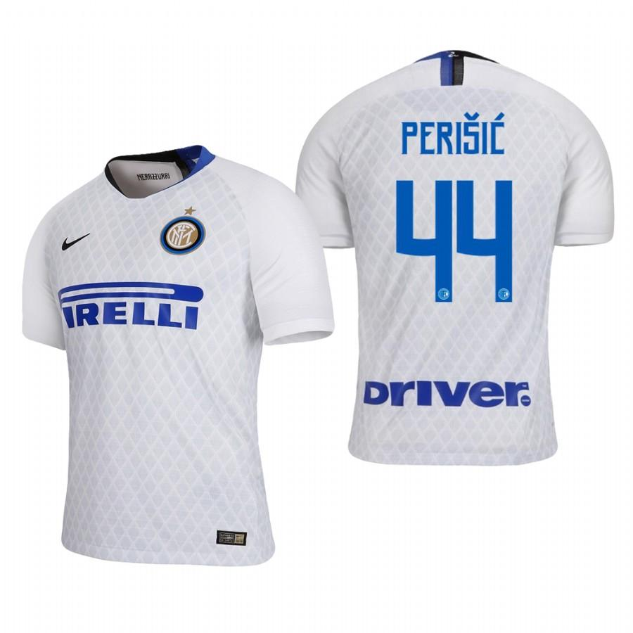 Internazionale Milano 18-19 White Ivan Perisic #44 Away Jersey Mens - S