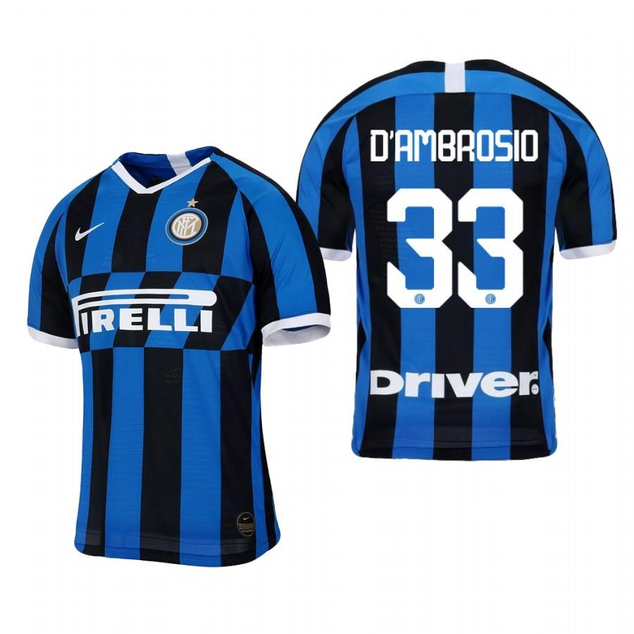 Internazionale Milano 19-20 Danilo DAmbrosio #33 Official Blue Black Jersey Mens HOME - S