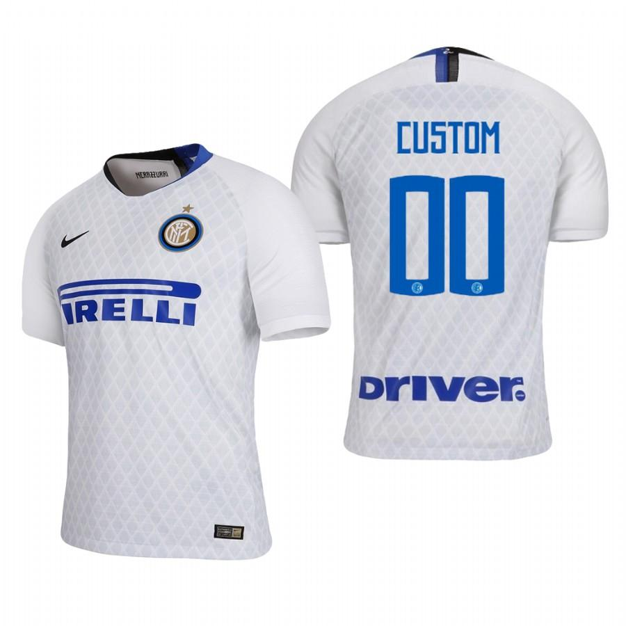 Internazionale Milano Custom 18-19 White Away Jersey Mens - S
