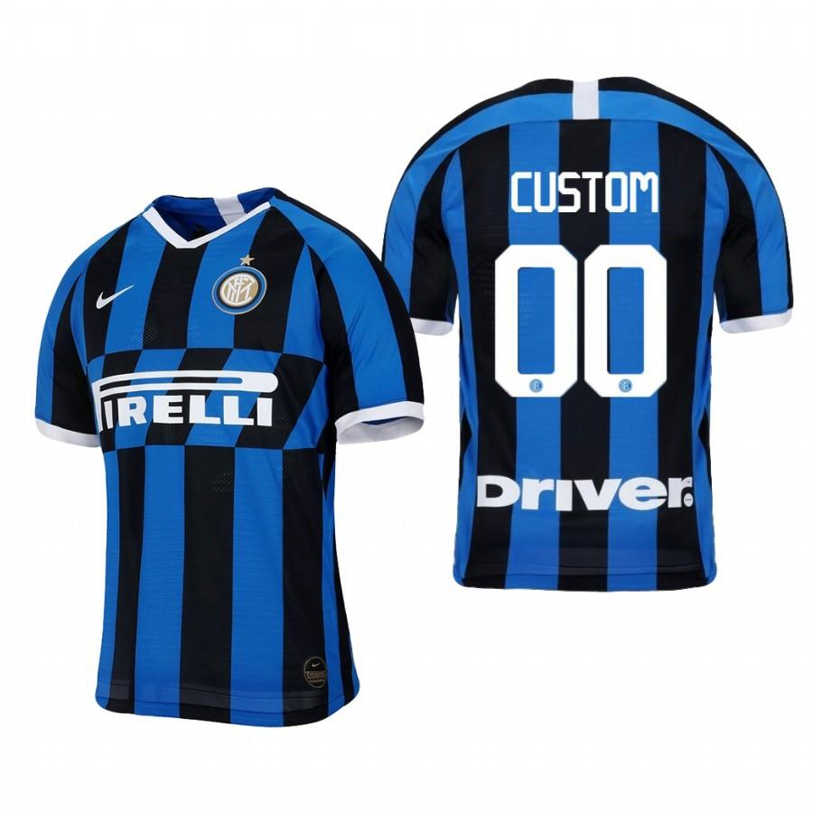 Internazionale Milano Custom 19-20 Official Blue Black Jersey Mens HOME - S