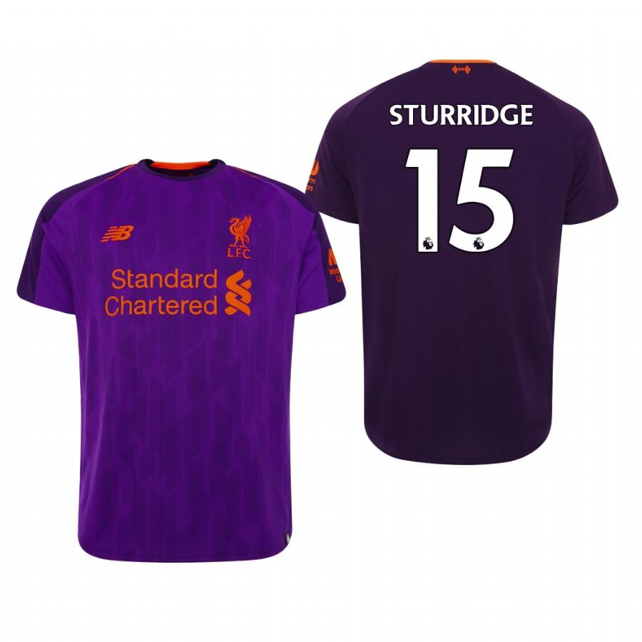 Liverpool 18-19 Purple Daniel Sturridge #15 Away Mens Jersey - S